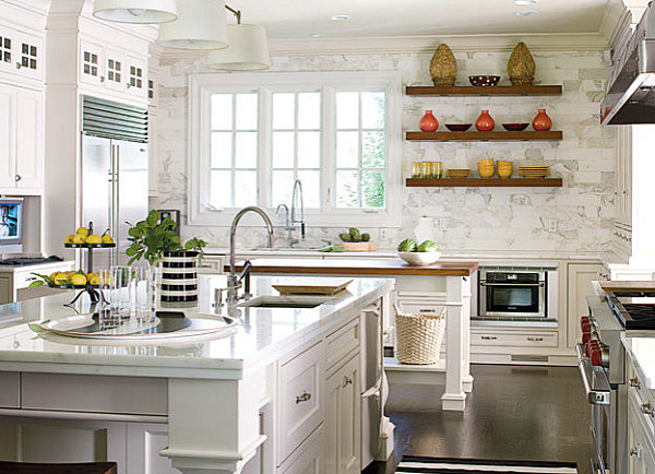 Charmant View In Gallery Bright Kitchen With Decorative Shelving