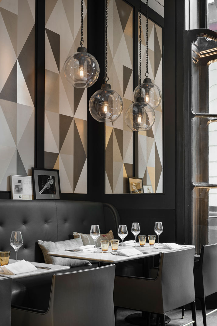 Italian restaurant café artcurial opens with refreshed