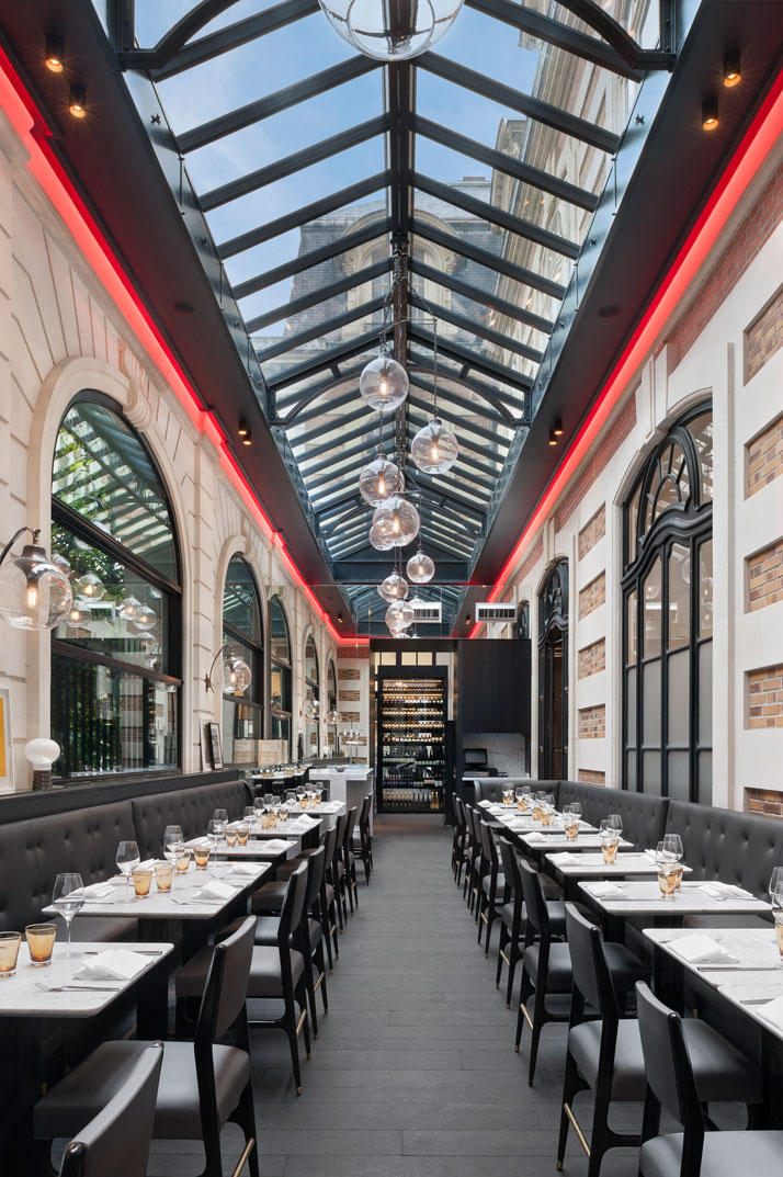italian restaurant caf artcurial opens with refreshed