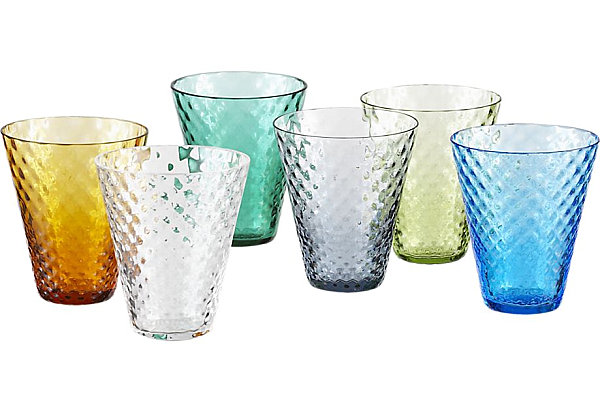 Colorful cordial glasses
