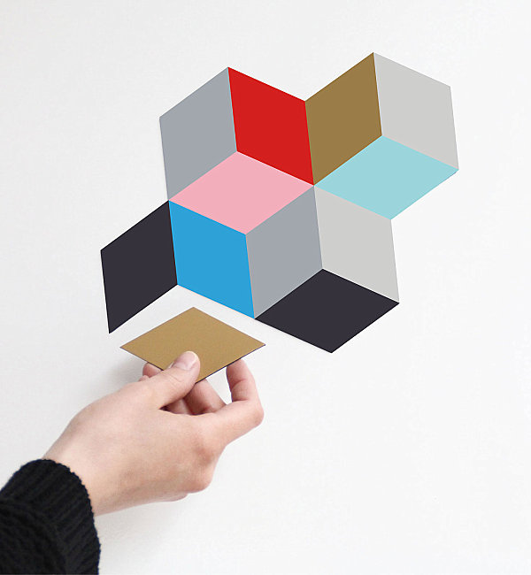 Colorful geometric magnets