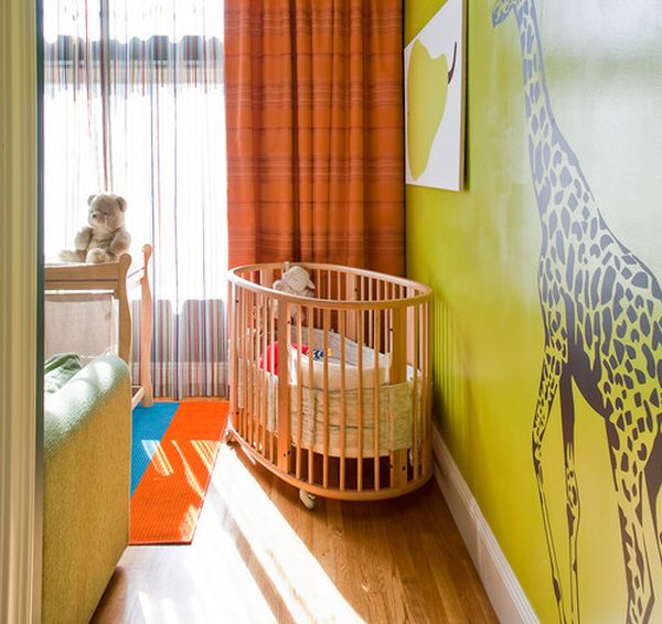 Colorful nursery with ample ventilation