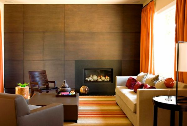 Compact fireplace doubles up as a lovely work of art