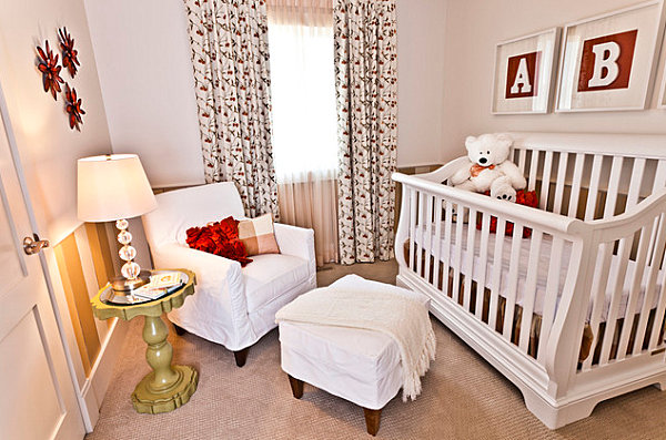 Compact nursery with comfy chair