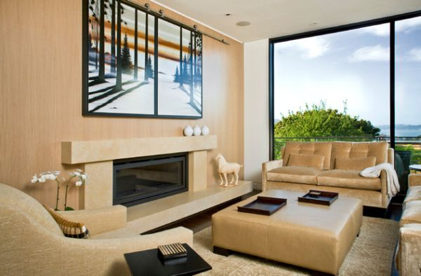 Contemporary gas fireplace for a chic and stylish house