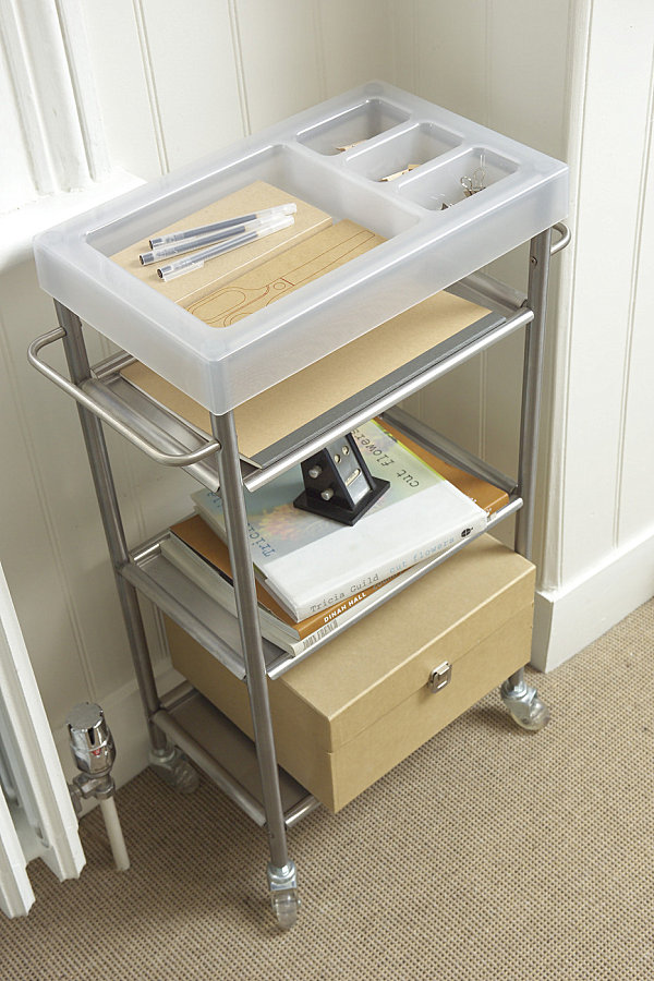 Contemporary storage trolley