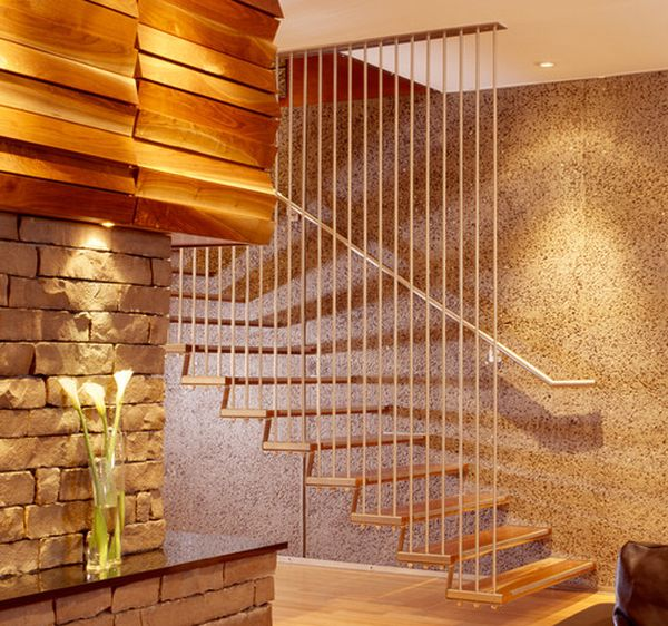 Lighting Basement Washroom Stairs: Suspended Style: 32 Floating Staircase Ideas For The