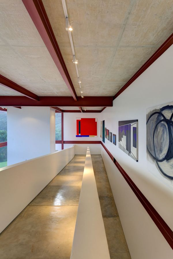 Corridors offer ample space for art work