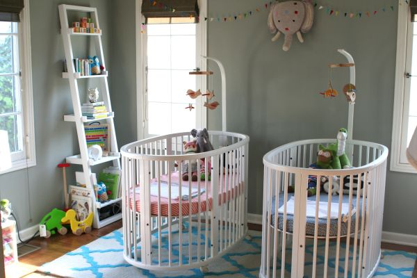 Couple Of Round Cribs For Those Blessed With Twins