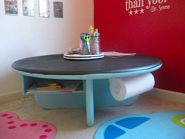 craft table via art craft ideas decoist. Black Bedroom Furniture Sets. Home Design Ideas