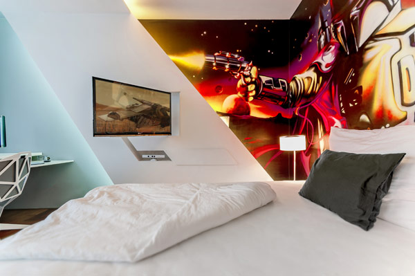 Custom designed bedroom offers plenty of gaming fun Fabulous Contemporary Kids Bedrooms Steal The Show With An Exciting Design