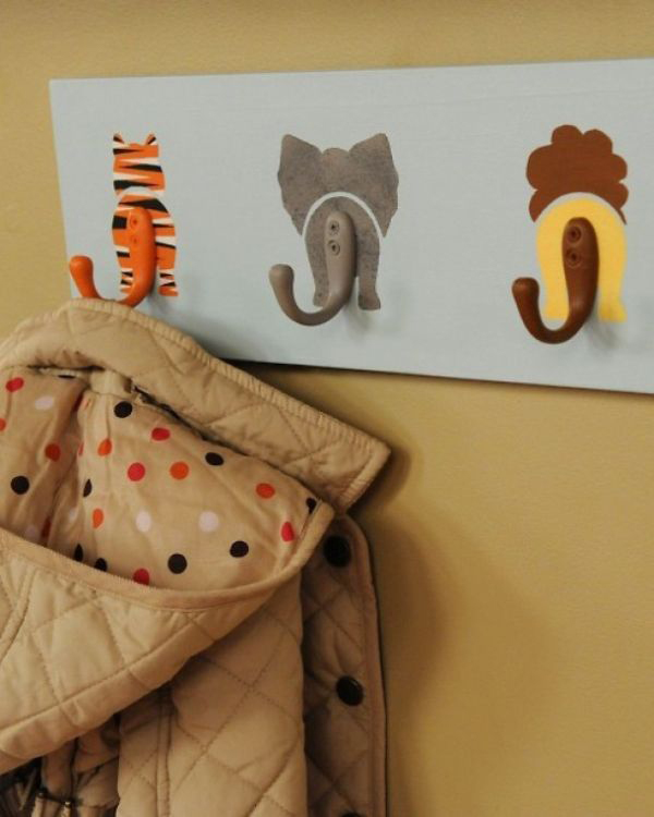 DIY Animal Tails Coat Rack