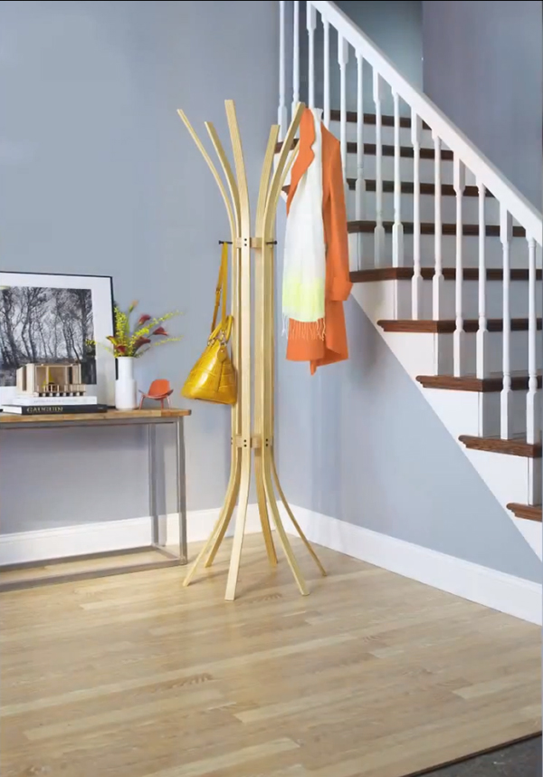 DIY Bent Wood Coat Tree 12 Fabulous DIY Coat Rack Ideas