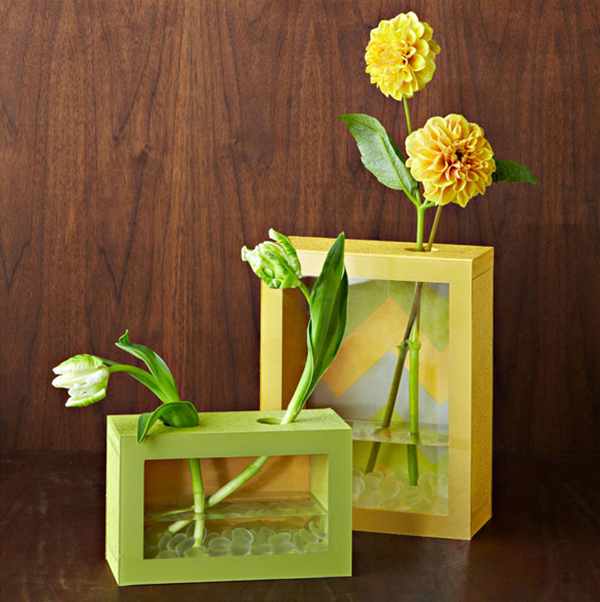DIY Clear Box Vase