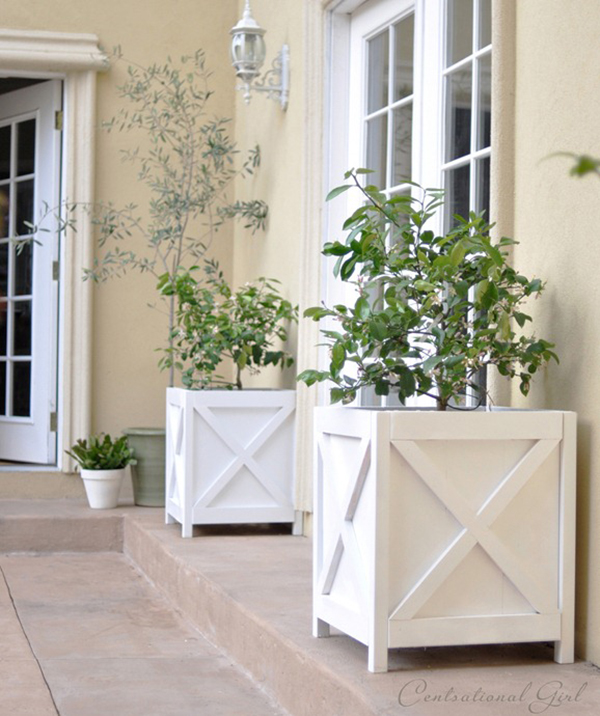 DIY Criss Cross X Planters Stylish DIY Planters for Spring