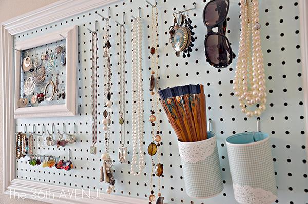 DIY Jewelry Organizer - Pegboard1