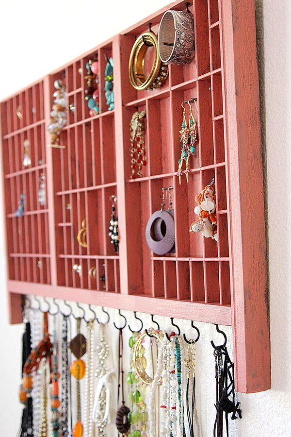 DIY Jewelry Organizer - Wood Tray