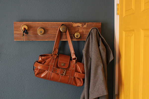 DIY Key and Lock Coat Rack