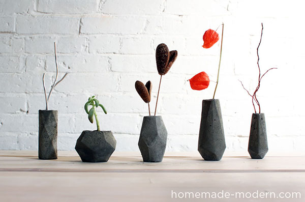 diy flower vases that are chic fancy. Black Bedroom Furniture Sets. Home Design Ideas