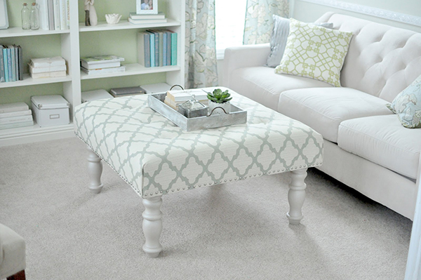 DIY Padded Ottoman Coffee Table