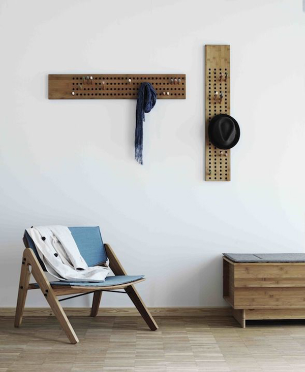 view in gallery diy pegboard coat rack - Modern Coat Rack