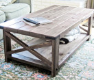 DIY Rustic X Coffee Table