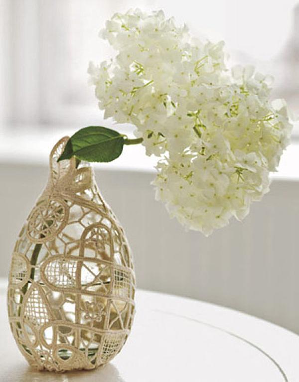 DIY Vintage Doily Vase