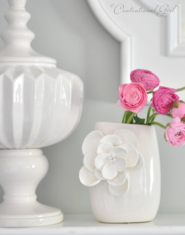 DIY White Clay Vase