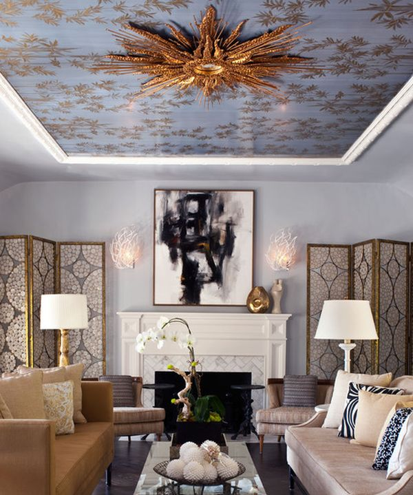 View in gallery Do not ignore the ceiling when going in for a Regency look! & Inspiration Hollywood: Invite Home Glitz Glamour and Drama with ... azcodes.com