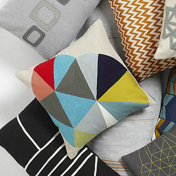 Eco-friendly pillow in bright colors
