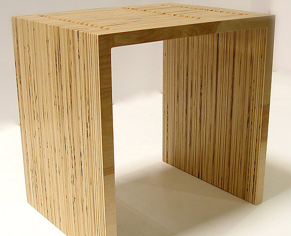 View in gallery Eco-friendly plywood table