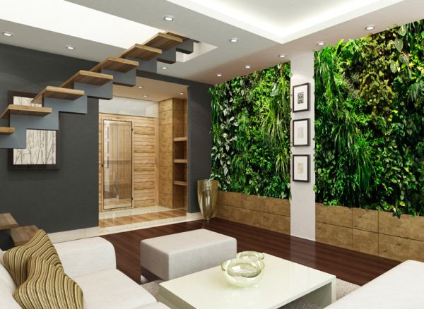 Elaborate living wall idea for those who love ample green