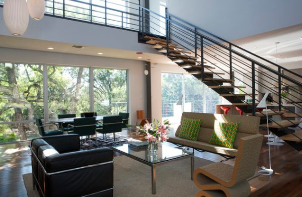 Elegant floating stairway perfect for a home filled with fabulous furnishings