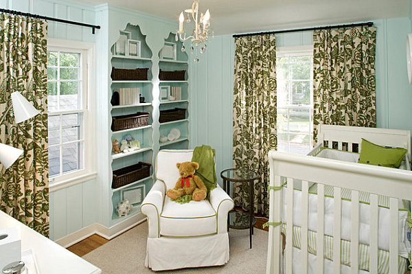 Elegant light blue nursery