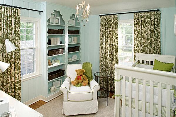 Elegant light blue nursery