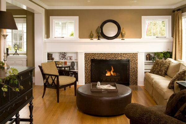 Elegant living room has a warm and inviting look