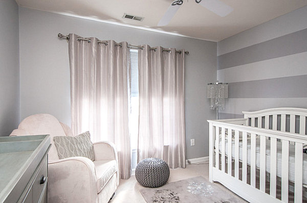 Elegant nursery that makes the most of its space