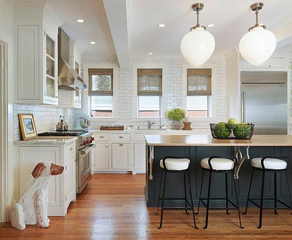 Embellishments in a modern bistro kitchen