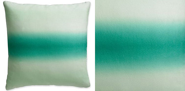 Emerald ombre pillow