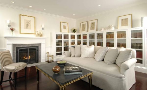 Enjoy your favorite book next to the fireplace 15 Inspiring Bookcases with Glass Doors for Your Home