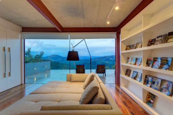 Enjoy your favorite books while checking out the view outside