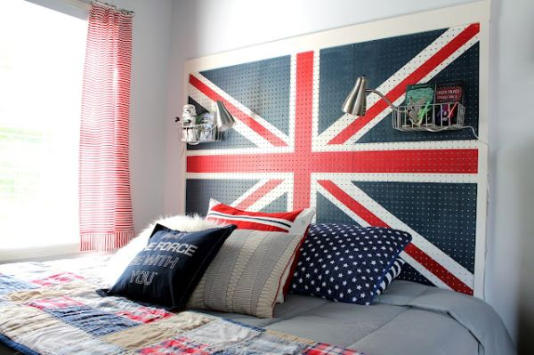 Ergonomic headboard sports the Union Jack with glee