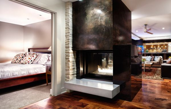 Exceptional fireplace design steals the show with ease