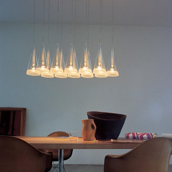 FUCSIA 12 Above Diningroom Table via Flos