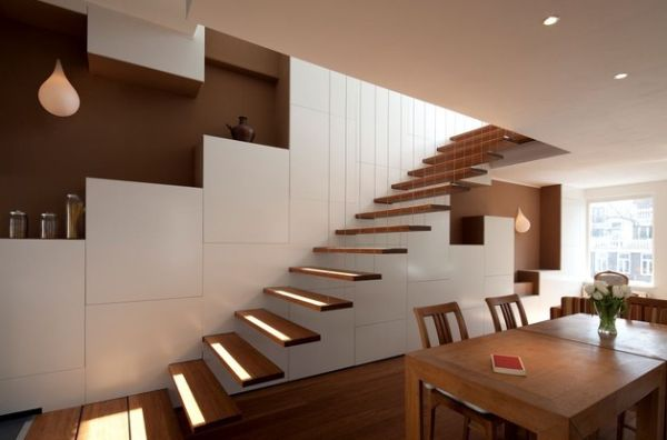 Suspended style 32 floating staircase ideas for the for Case moderne classiche