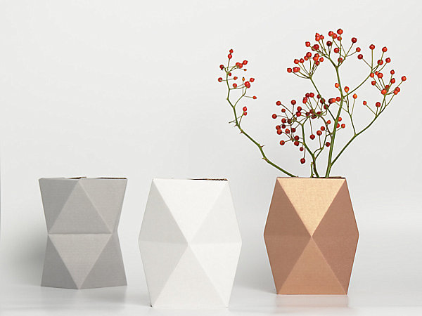 Faceted geometric vases