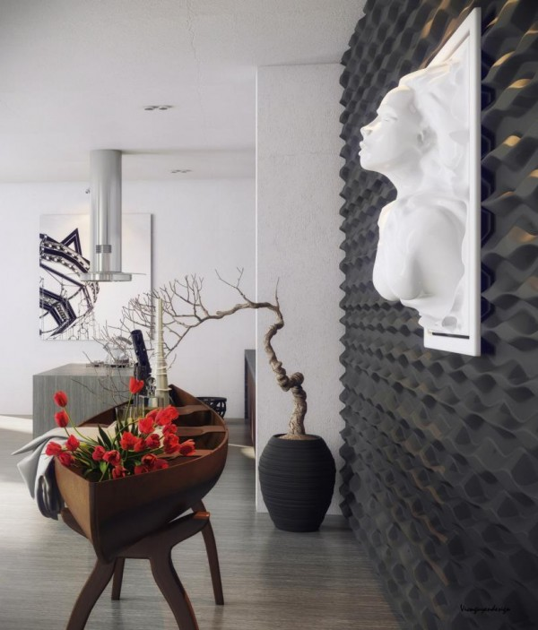 Fascinating and fabulous art additions spice up the contemporary home