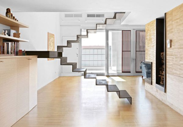View In Gallery Fragile Appearance Of This Floating Staircase Makes It A  Scare For The Faint Hearted