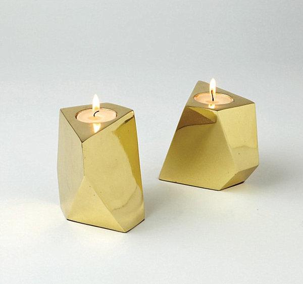 Geometric votives in brass