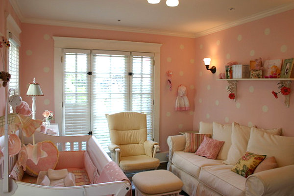 Girls' room with comfy furniture